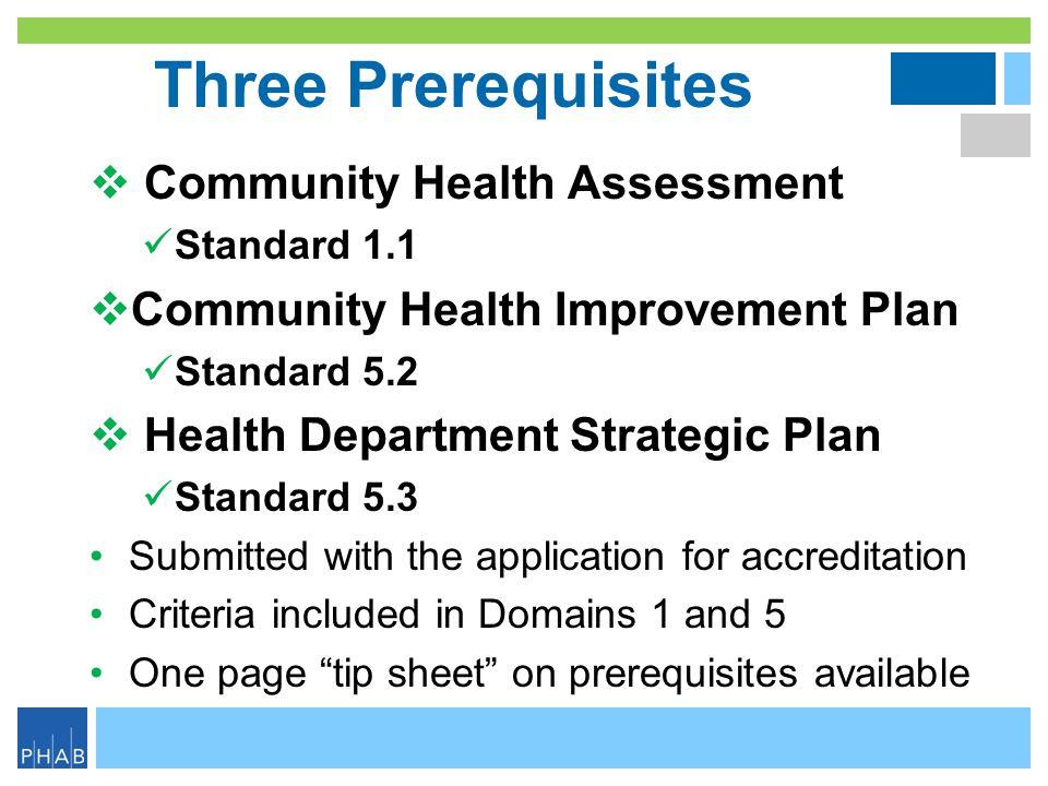 Three Prerequisites Community Health Assessment
