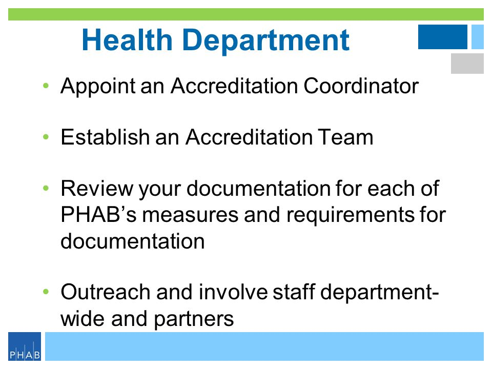 Health Department Appoint an Accreditation Coordinator
