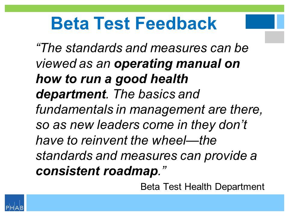 Beta Test Feedback