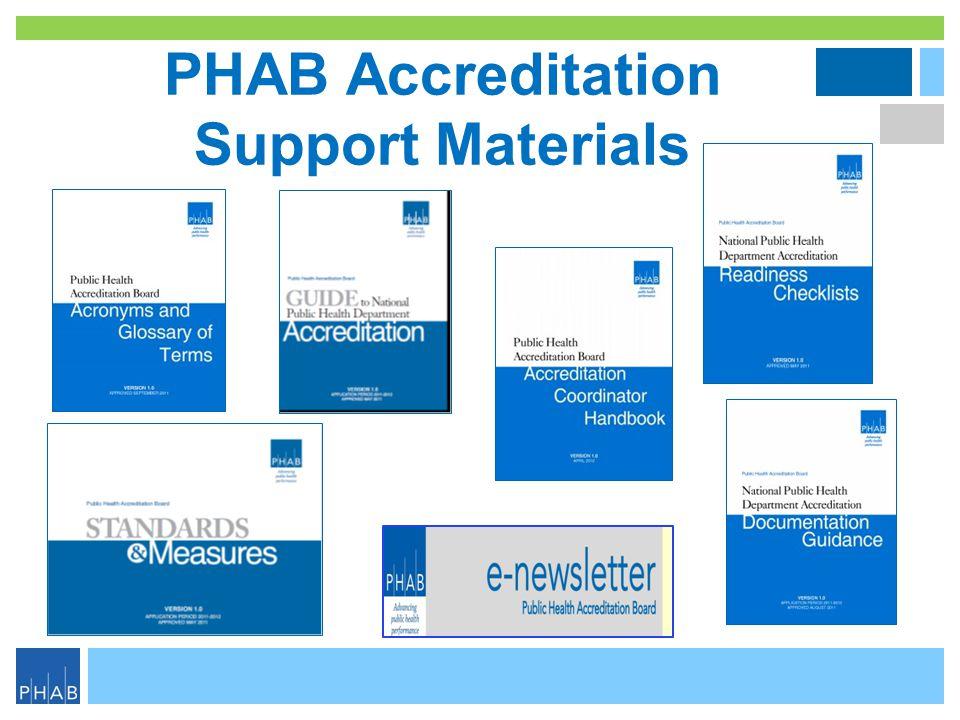PHAB Accreditation Support Materials