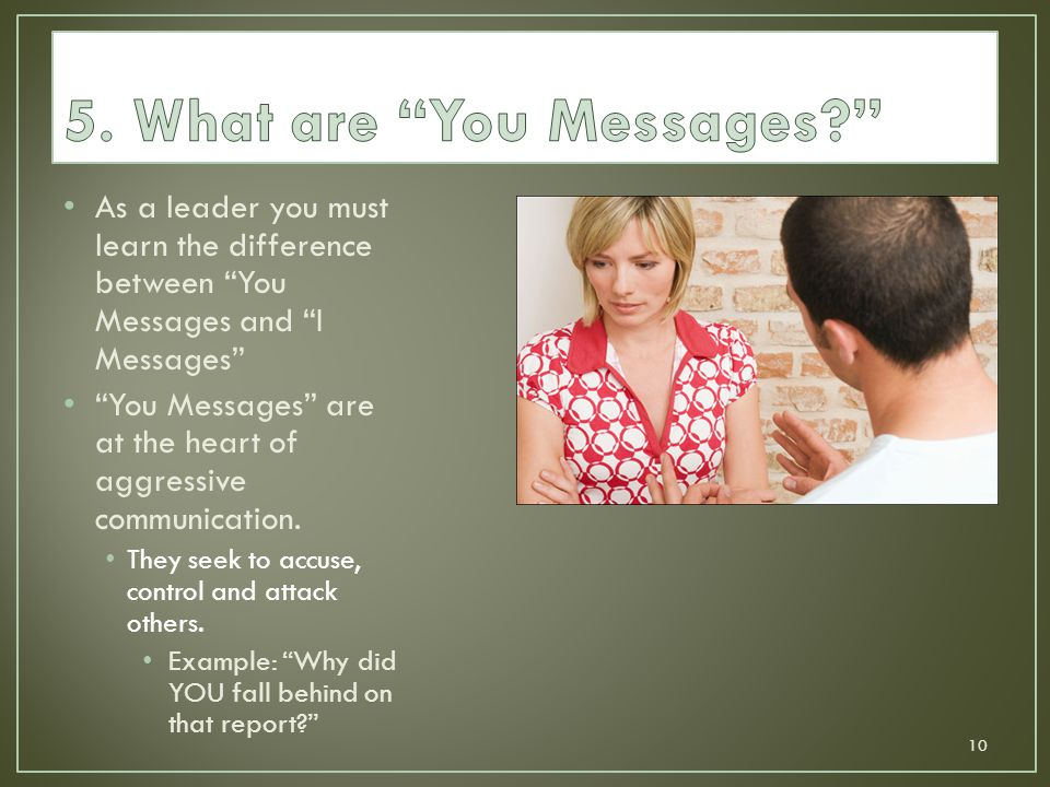 5. What are You Messages