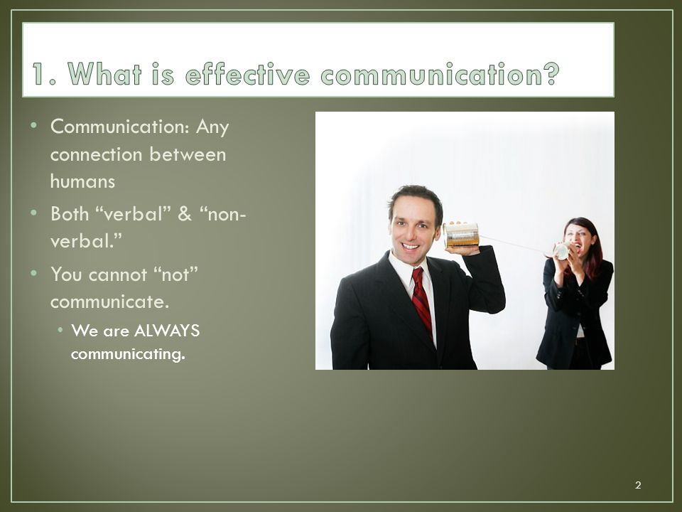 1. What is effective communication