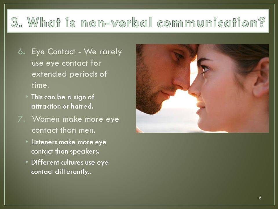 3. What is non-verbal communication