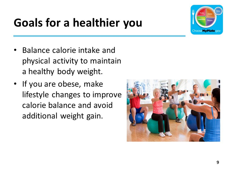 Goals for a healthier you