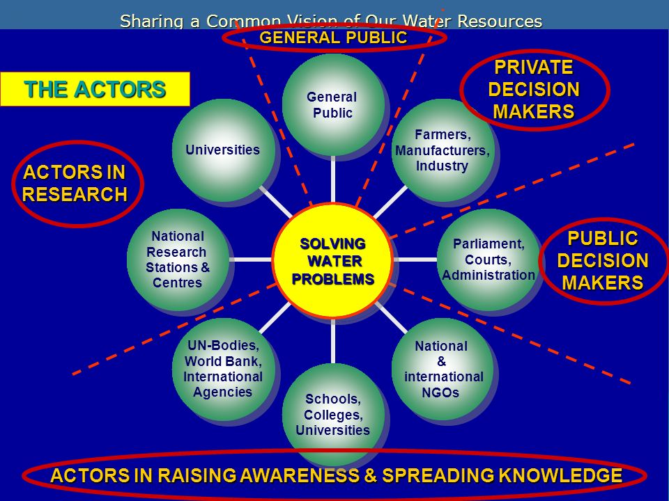 THE ACTORS PRIVATE DECISION MAKERS ACTORS IN RESEARCH