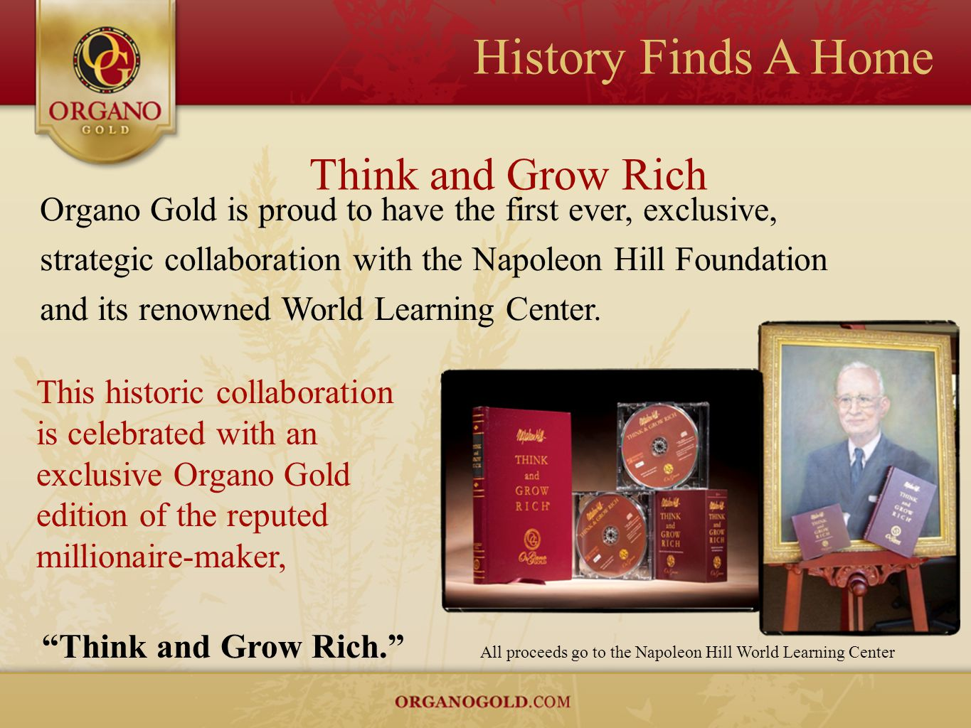 History Finds A Home Think and Grow Rich