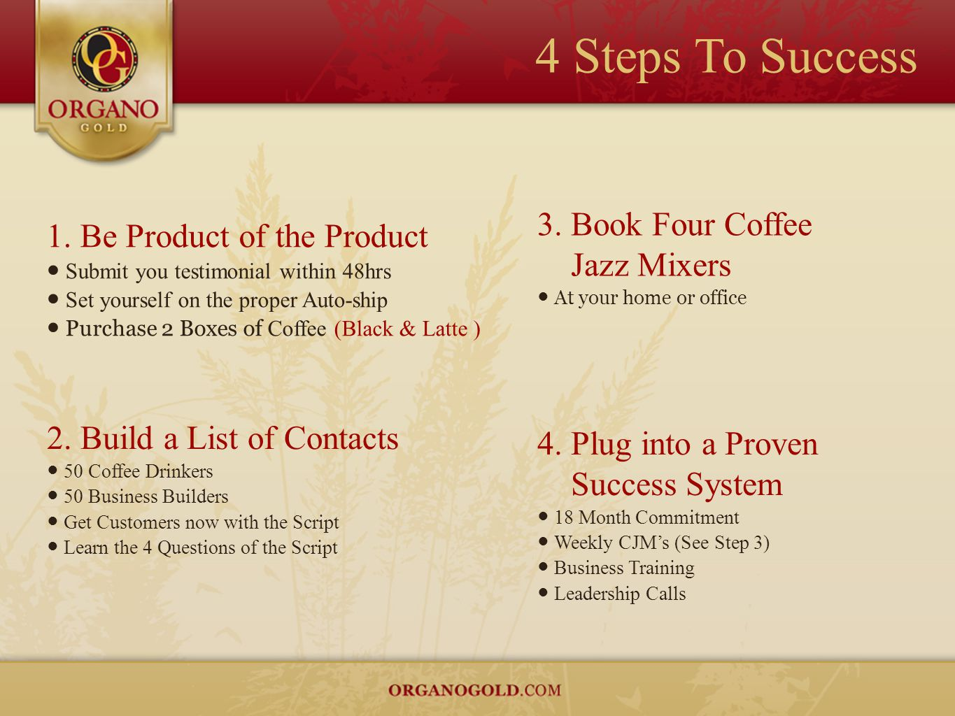 4 Steps To Success Book Four Coffee Jazz Mixers