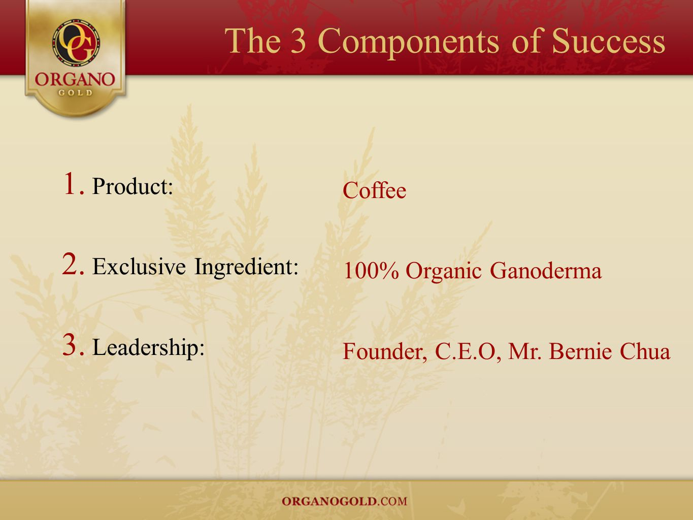 The 3 Components of Success