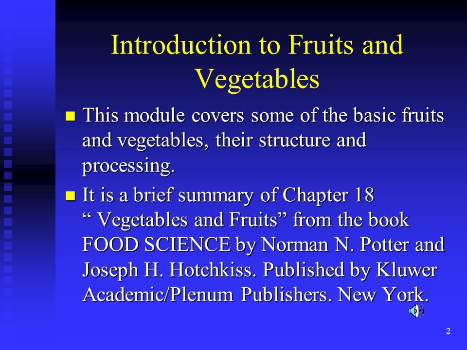 Introduction to Fruits and Vegetables