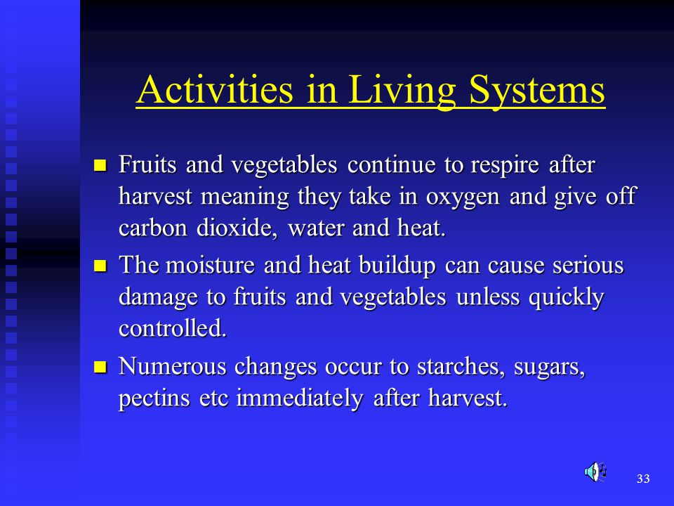 Activities in Living Systems