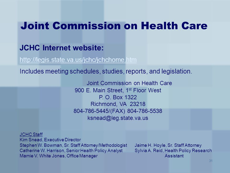 Joint Commission on Health Care