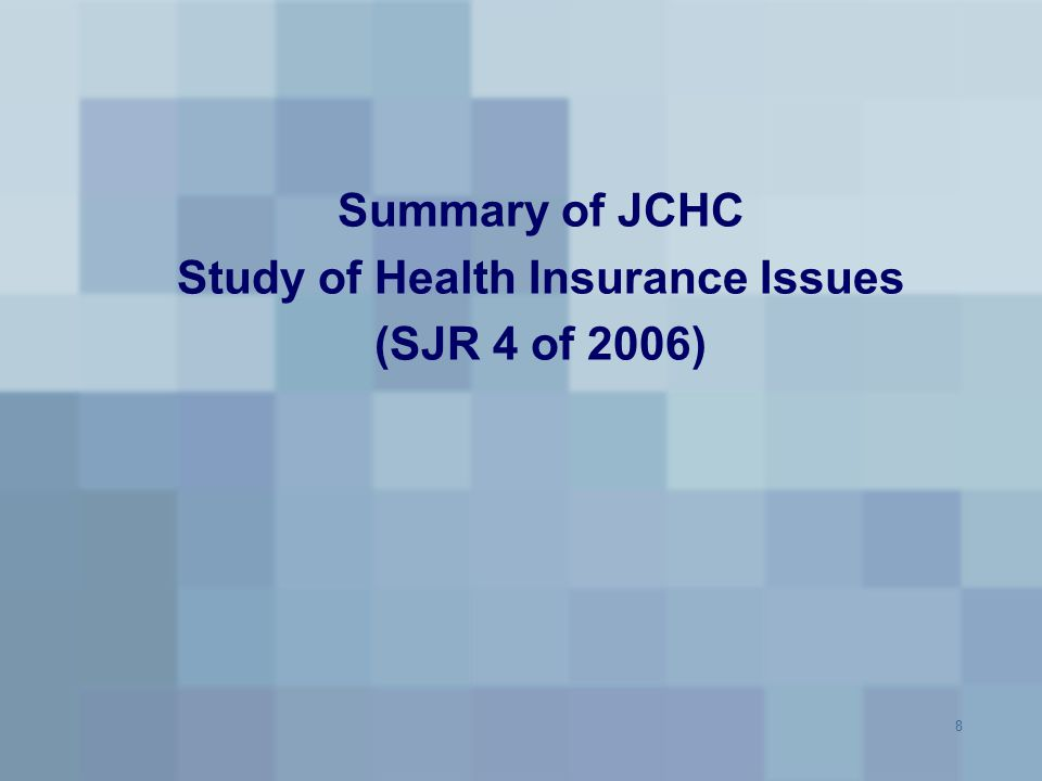 Study of Health Insurance Issues