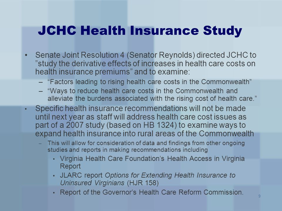 JCHC Health Insurance Study