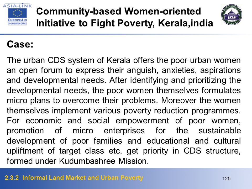 Community-based Women-oriented Initiative to Fight Poverty, Kerala,india
