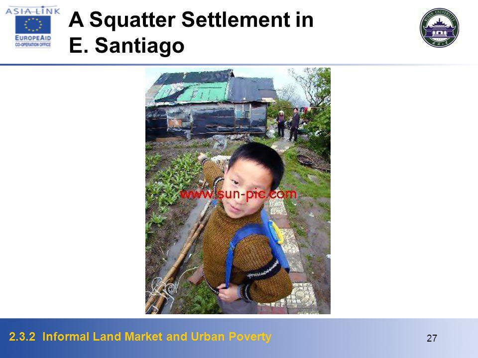 A Squatter Settlement in E. Santiago