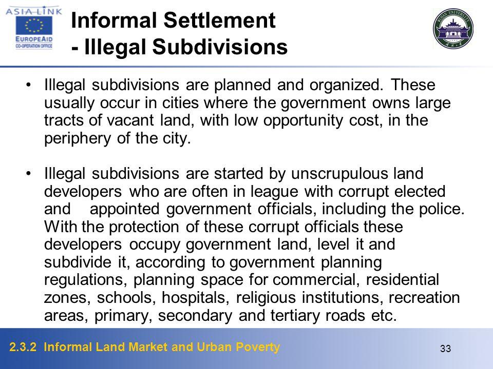 - Illegal Subdivisions
