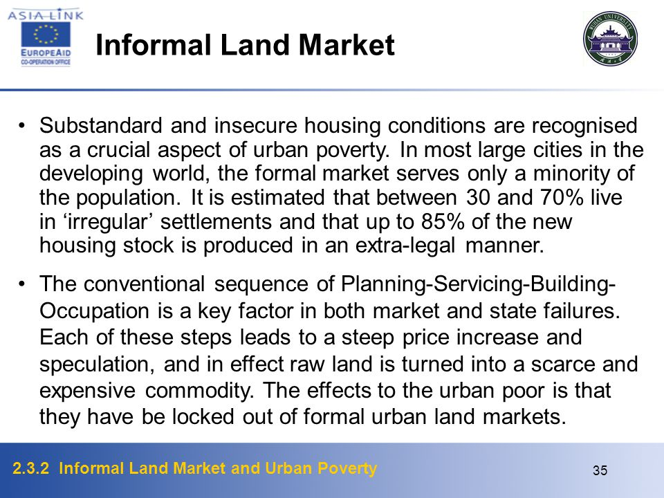 Informal Land Market