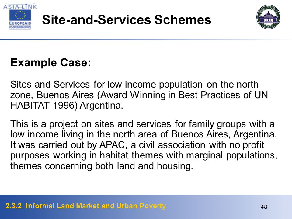 Site-and-Services Schemes