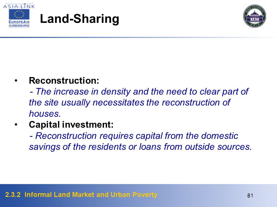 Land-Sharing Reconstruction: