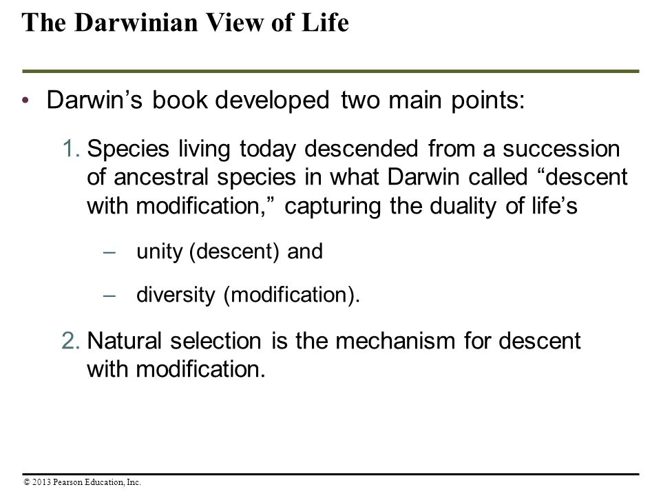 The Darwinian View of Life