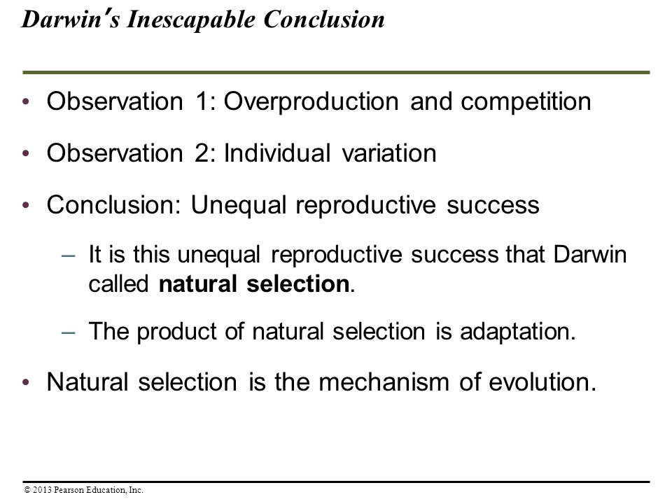 Darwin's Inescapable Conclusion