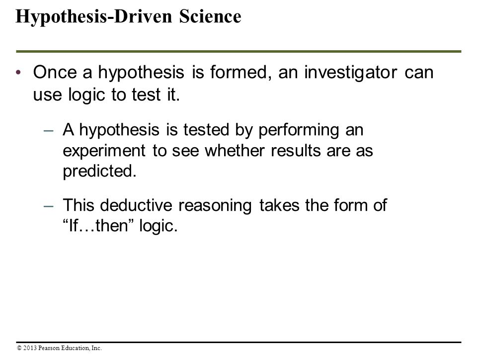 Hypothesis-Driven Science