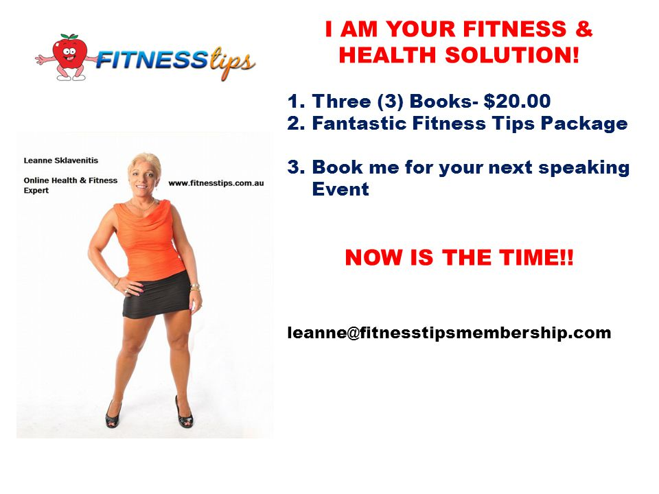 I AM YOUR FITNESS & HEALTH SOLUTION!