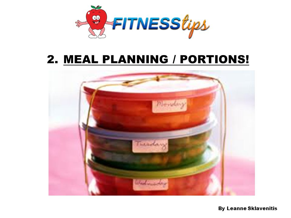 MEAL PLANNING / PORTIONS!