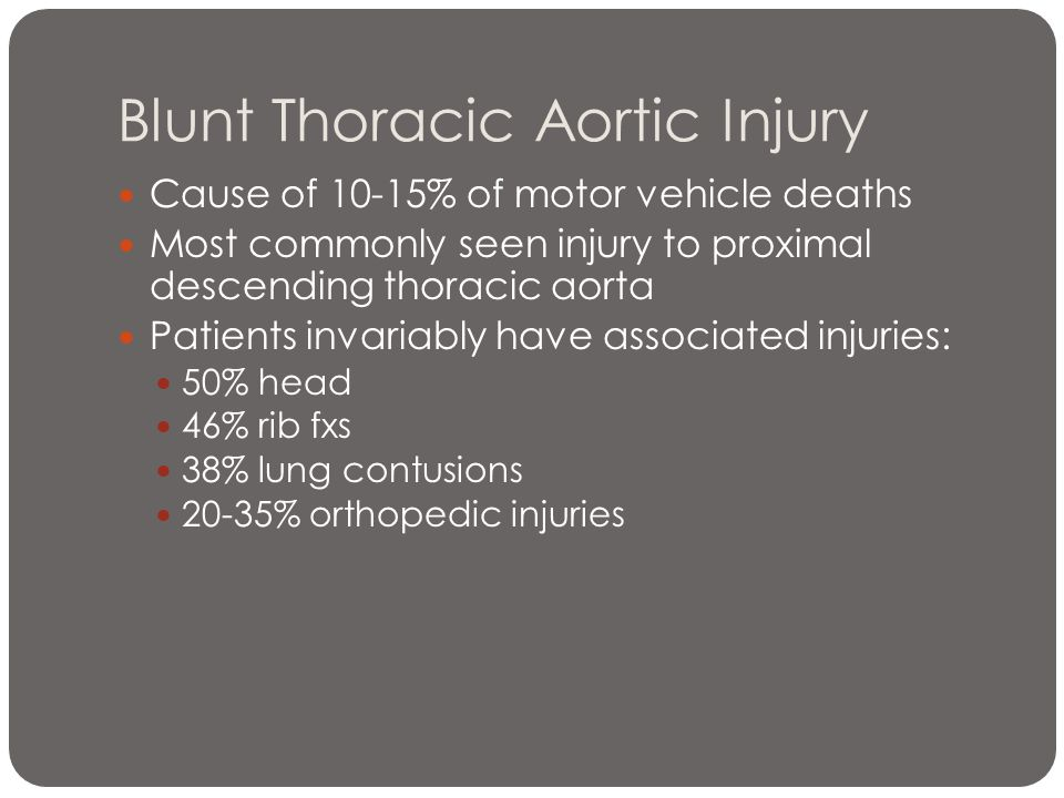 Blunt Thoracic Aortic Injury