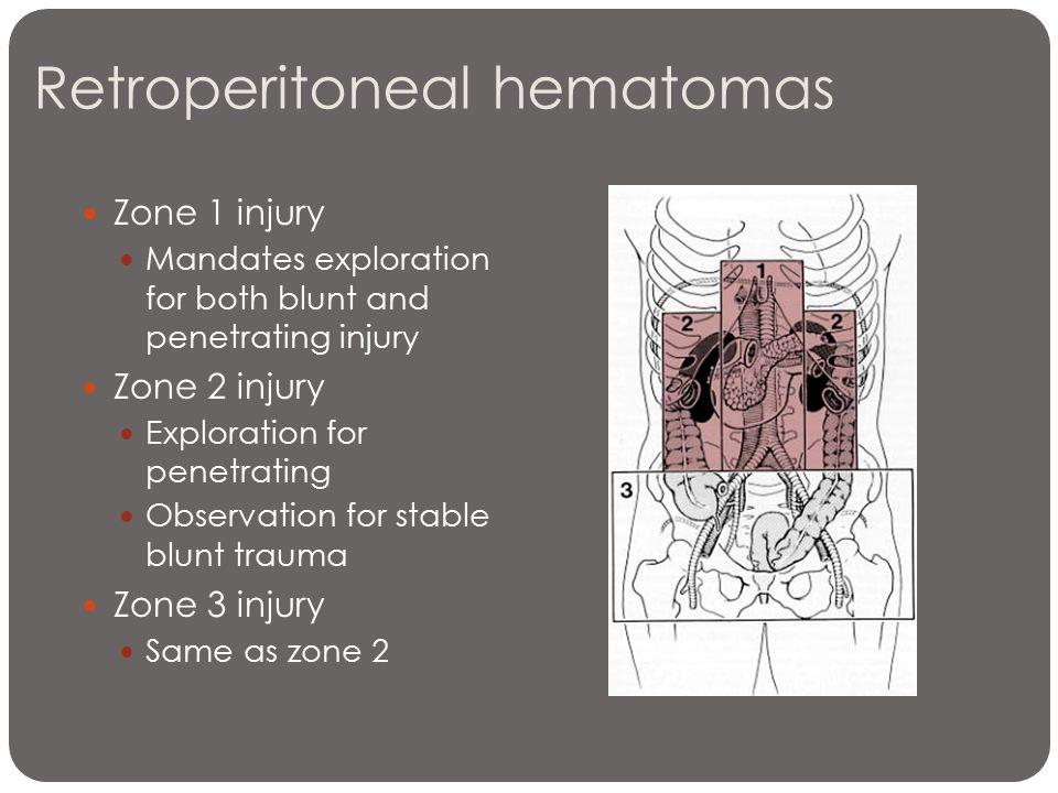 Retroperitoneal hematomas