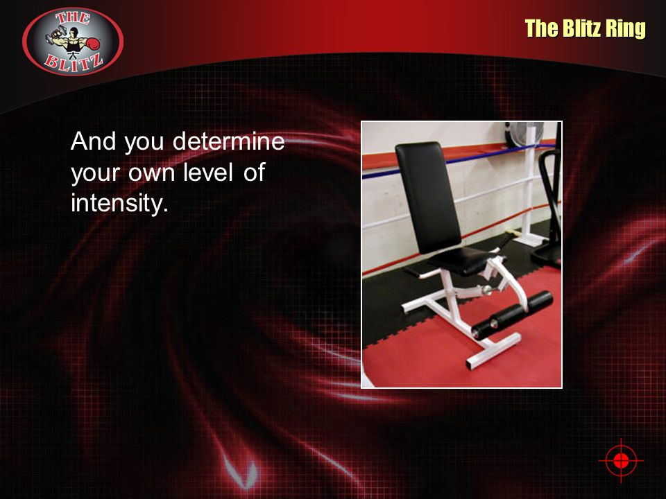 The Blitz Ring And you determine your own level of intensity.