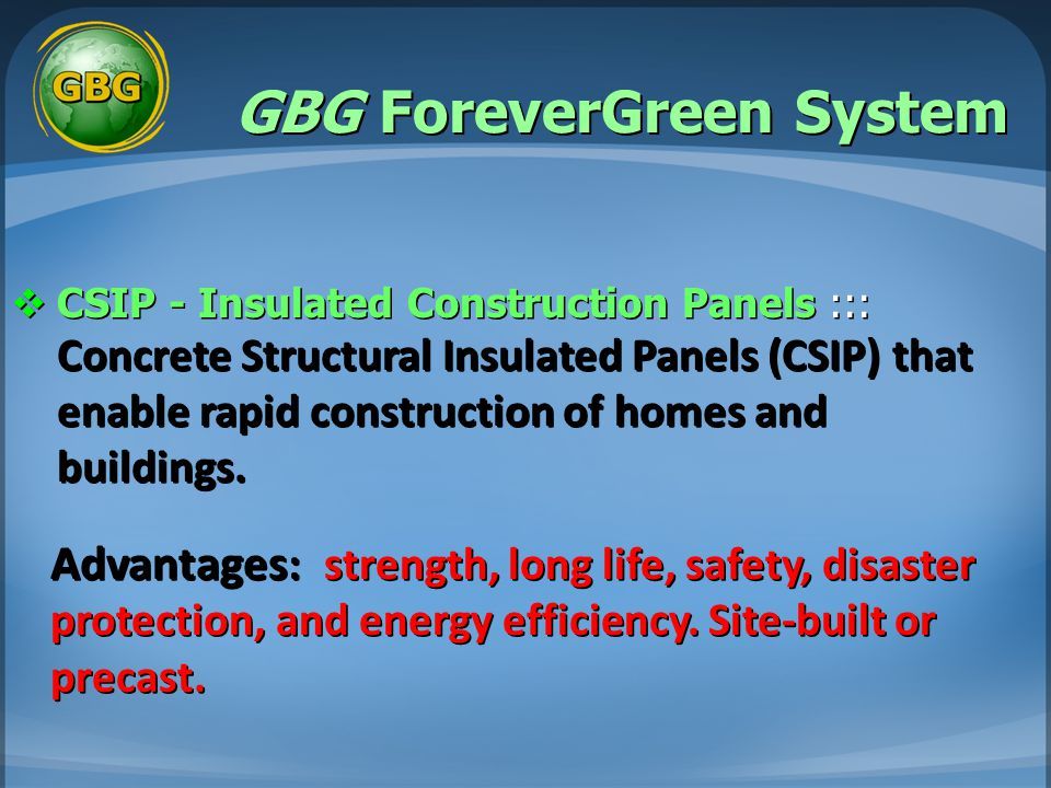 GBG ForeverGreen System