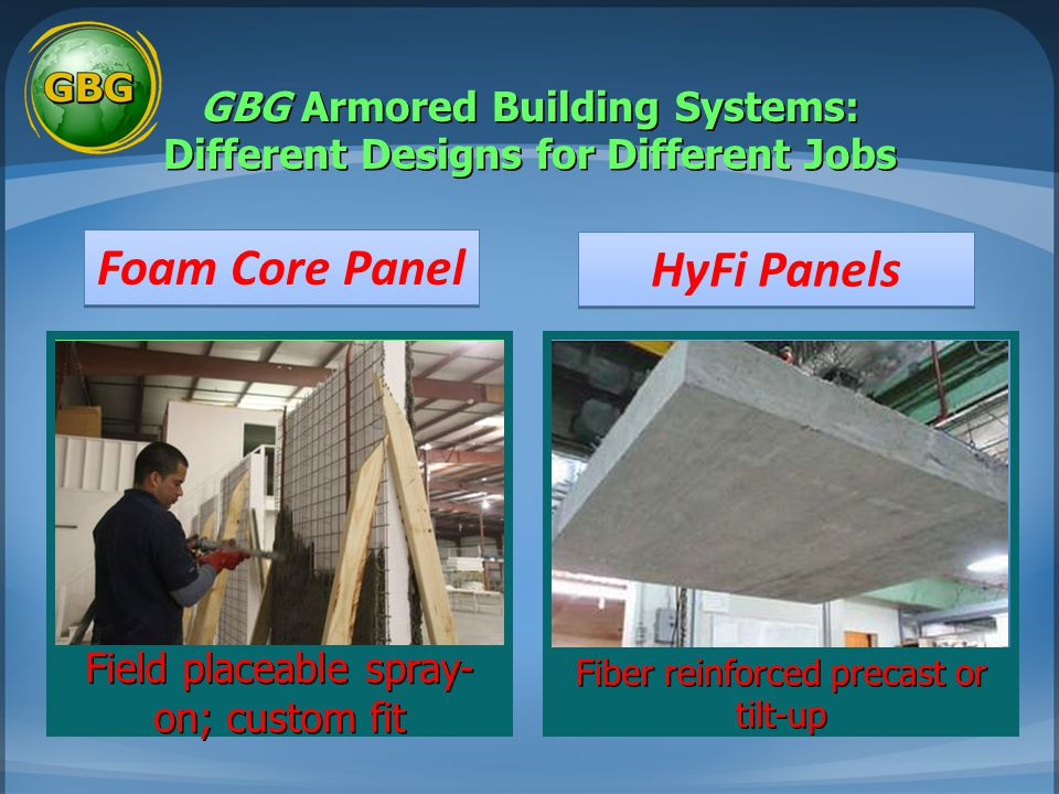GBG Armored Building Systems: Different Designs for Different Jobs