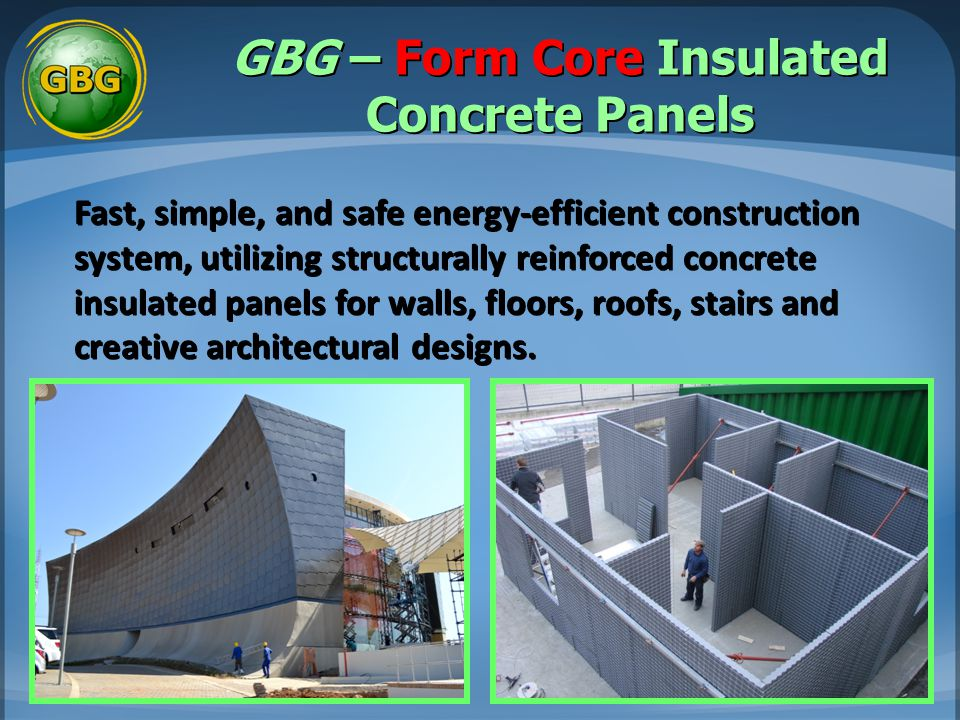 GBG – Form Core Insulated Concrete Panels