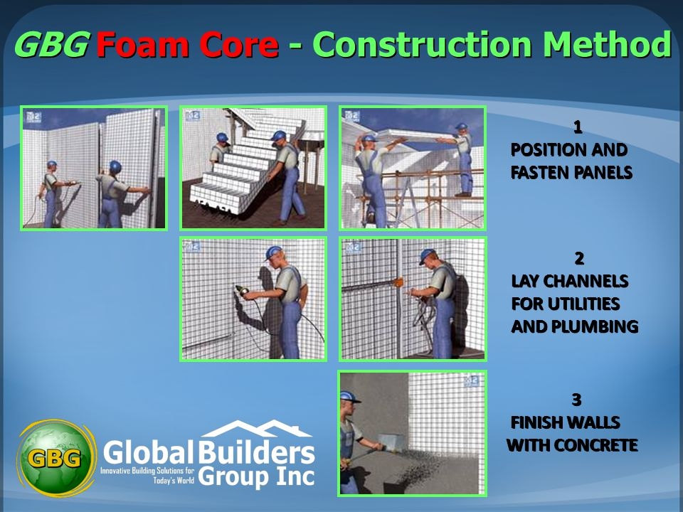 GBG Foam Core - Construction Method