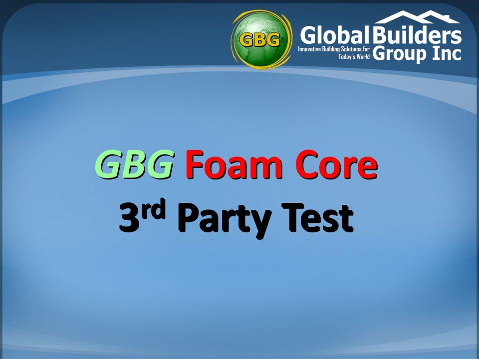 GBG Foam Core 3rd Party Test