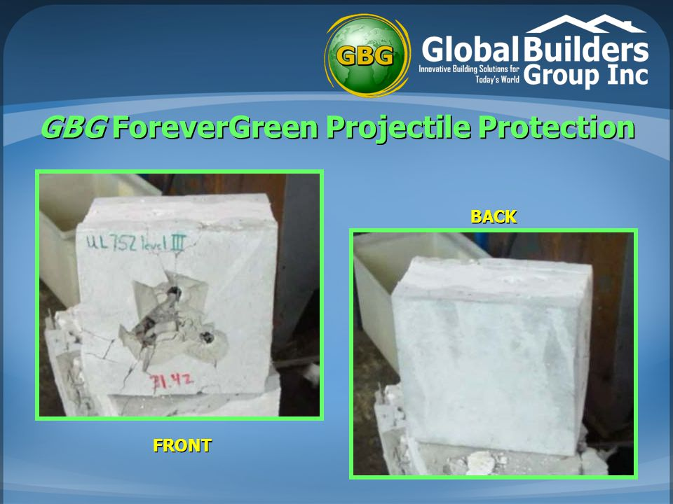 GBG ForeverGreen Projectile Protection