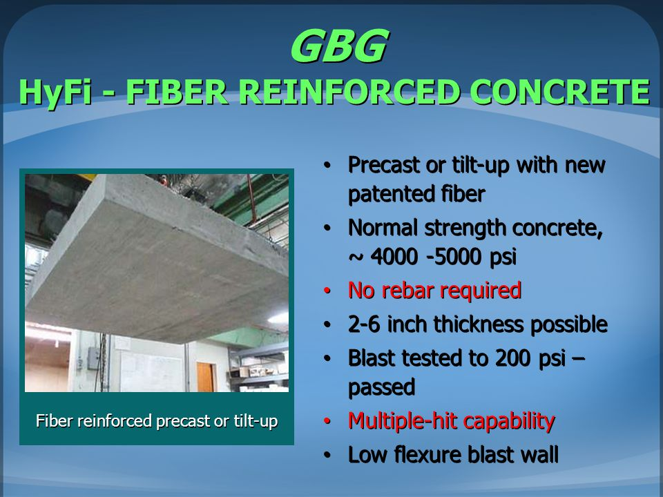 GBG HyFi - FIBER REINFORCED CONCRETE