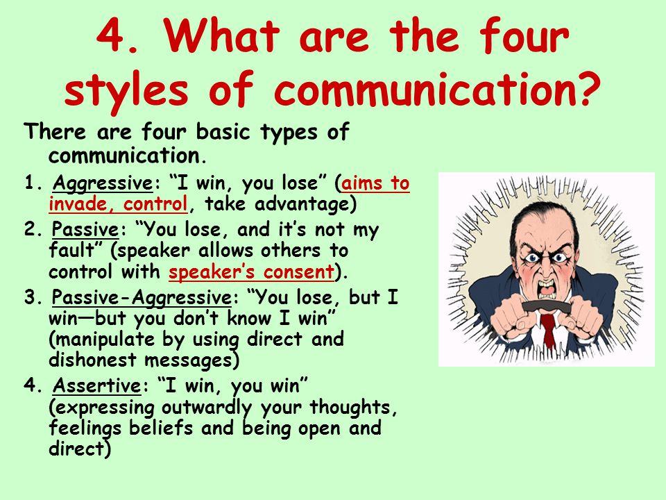 The four basic styles of communication