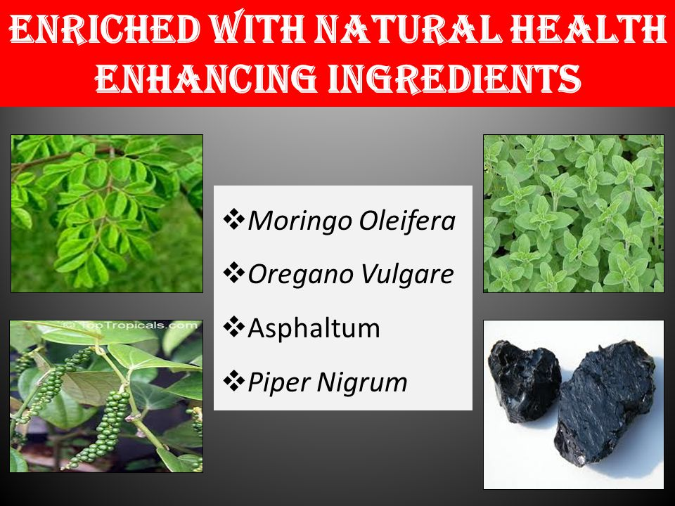 Enriched with natural health enhancing Ingredients