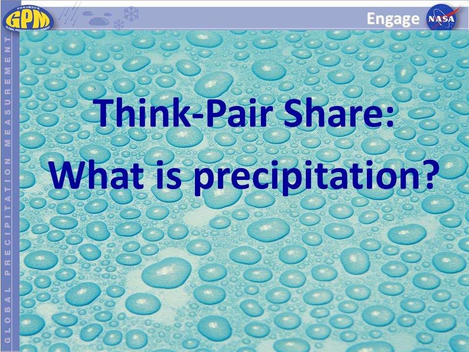 Think-Pair Share: What is precipitation