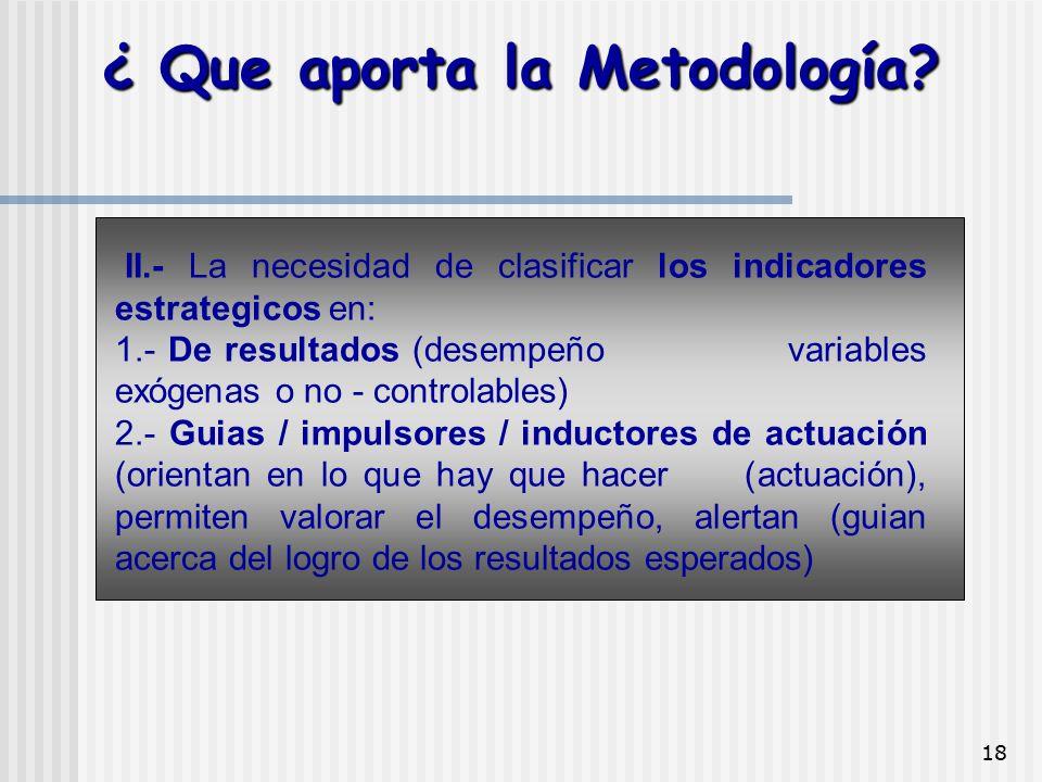 ¿ Que aporta la Metodología