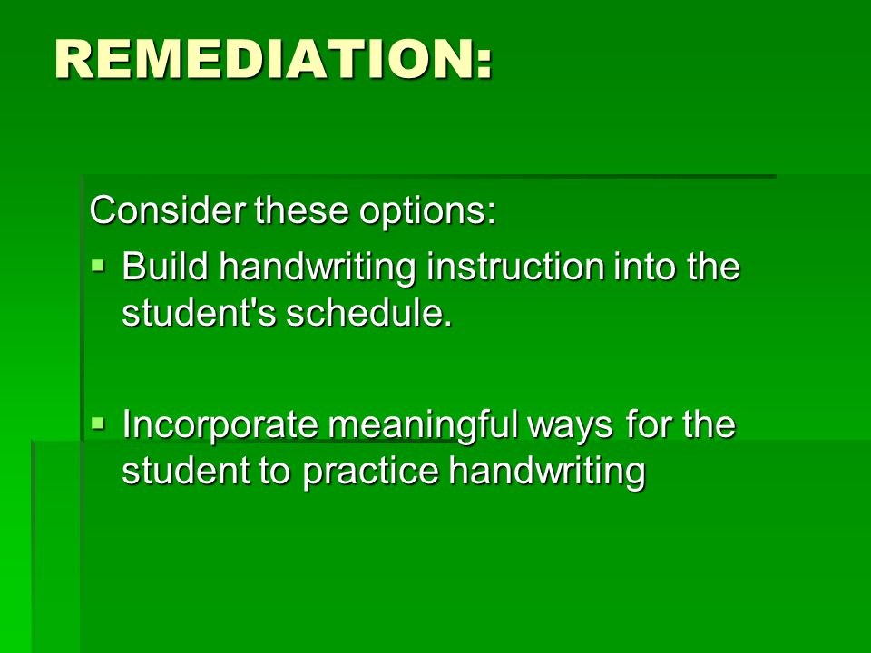 REMEDIATION: Consider these options: