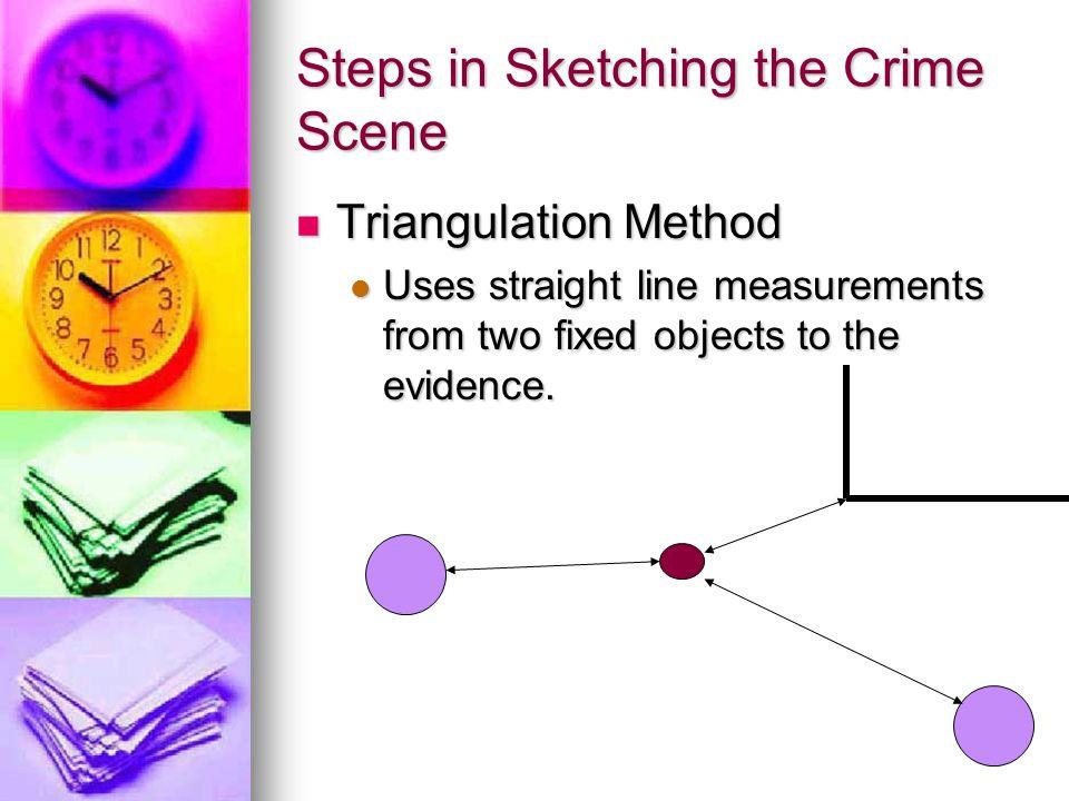 Steps in Sketching the Crime Scene