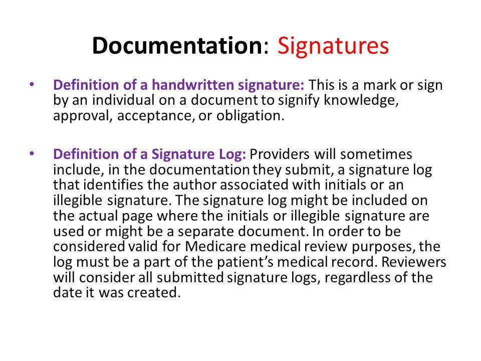 Documentation: Signatures