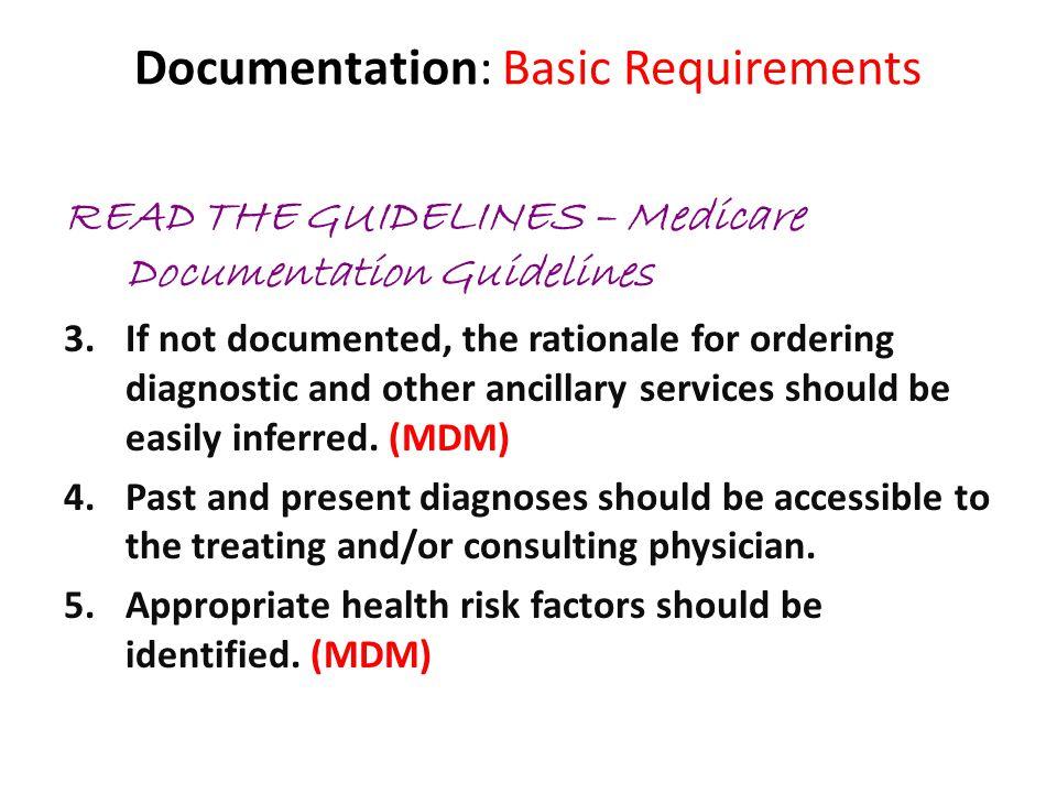 Documentation: Basic Requirements