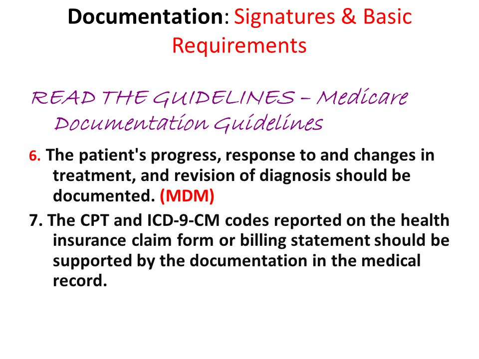 Documentation: Signatures & Basic Requirements