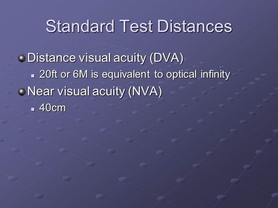 Standard Test Distances