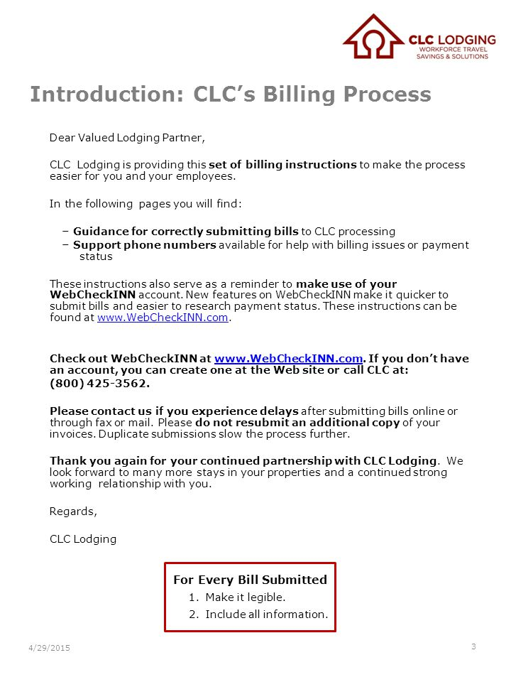 Introduction: CLC's Billing Process