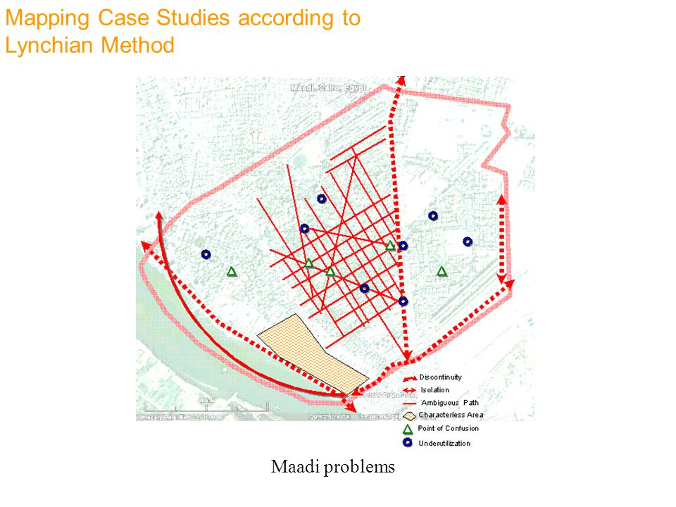 Mapping Case Studies according to Lynchian Method